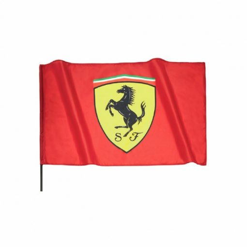 Ferrari Scudetto Flag with Pole, Red, 2018 - FansBRANDS
