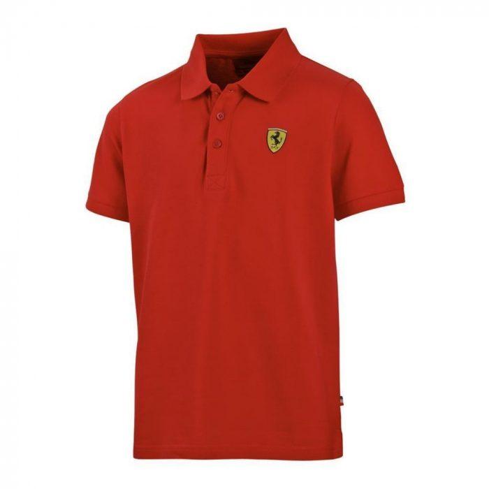 2016, Red, 10-11 years, Ferrari Kids Polo