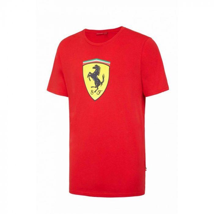 2013, Red, 5-6 years, Ferrari Round Neck Kids Scudetto T-shirt