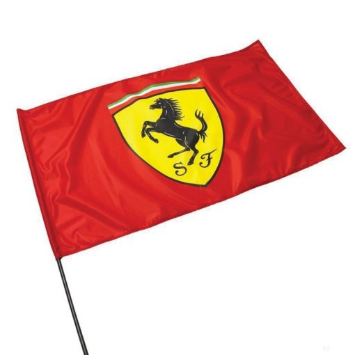 2019, Red, Ferrari Flag with pole