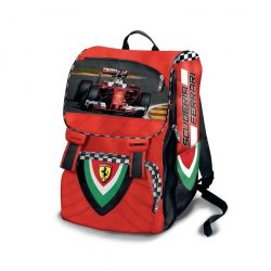 2018, Red, 30x40x14 cm, Ferrari Sebastian Vettel Backpack