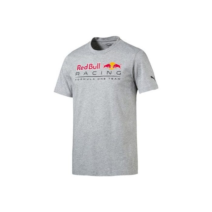 2017, Grey, L, Puma Red Bull Round Neck Logo T-shirt