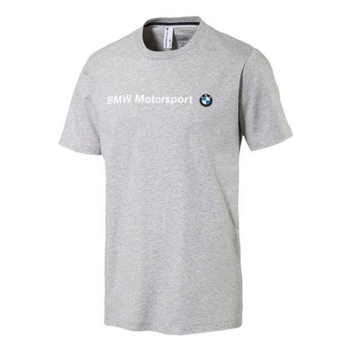 2017, Grey, S, Puma BMW Round Neck Team Logo T-shirt