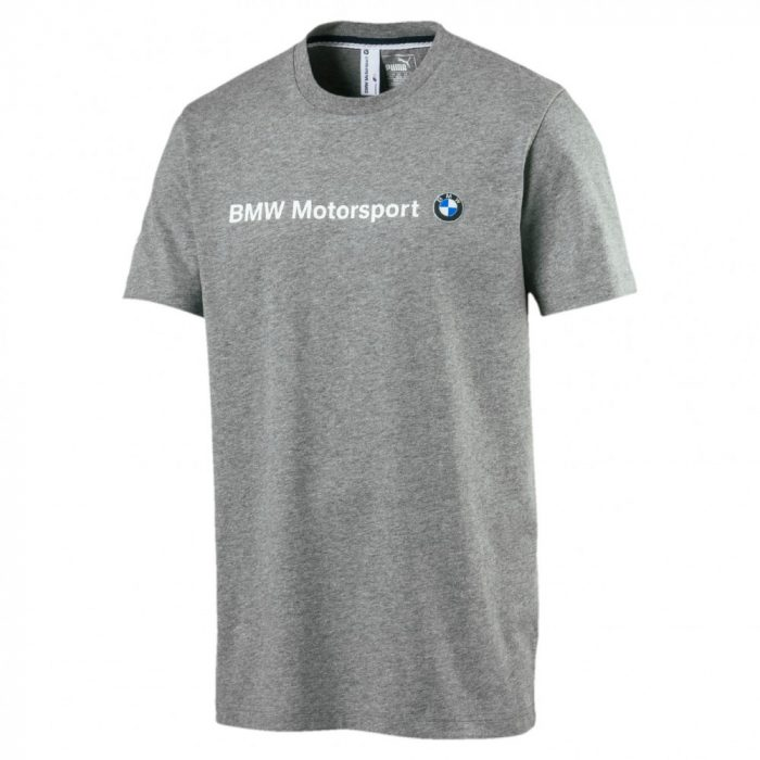 2017, Grey, M, Puma BMW Round Neck Logo T-shirt