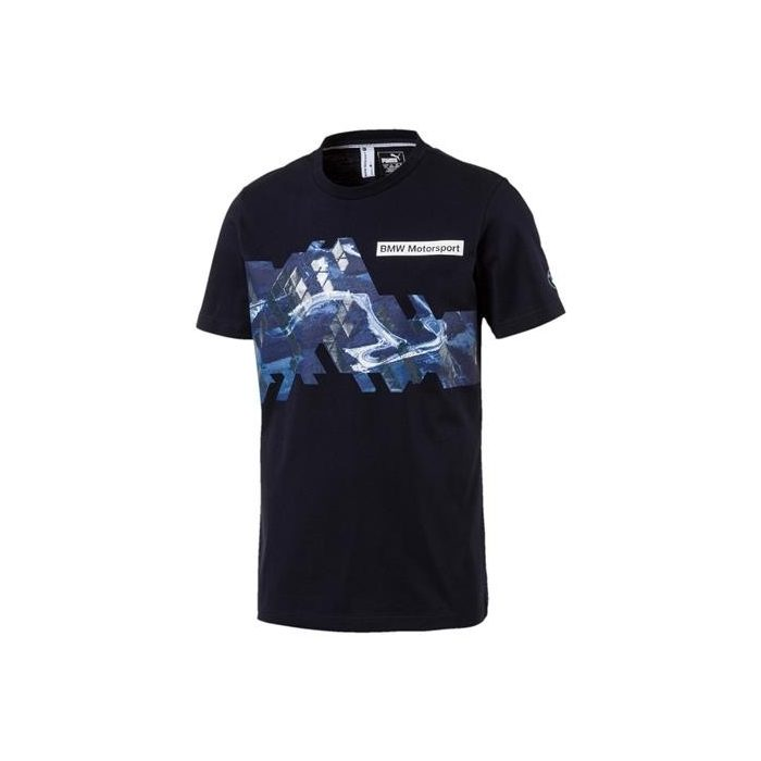 2017, Blue, XXL, Puma BMW Round Neck Logo Graphic T-shirt
