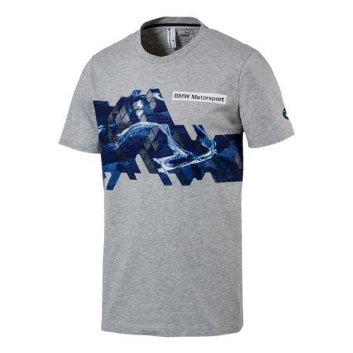 Puma BMW Round Neck Graphic T-shirt, Grey, 2017 - FansBRANDS