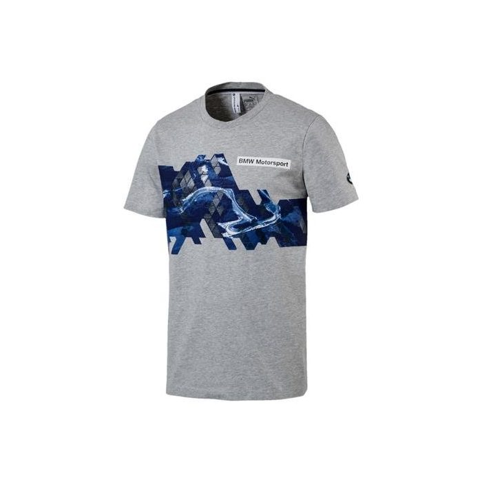 2017, Grey, XXL, Puma BMW Round Neck Graphic T-shirt