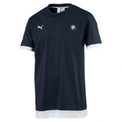 2017, Blue, S, Puma BMW Round Neck MSP T-shirt