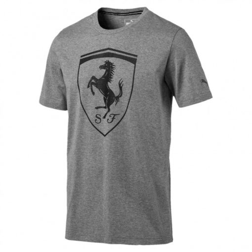Puma Ferrari Round Neck BigShield T-shirt, Grey, 2017 - FansBRANDS