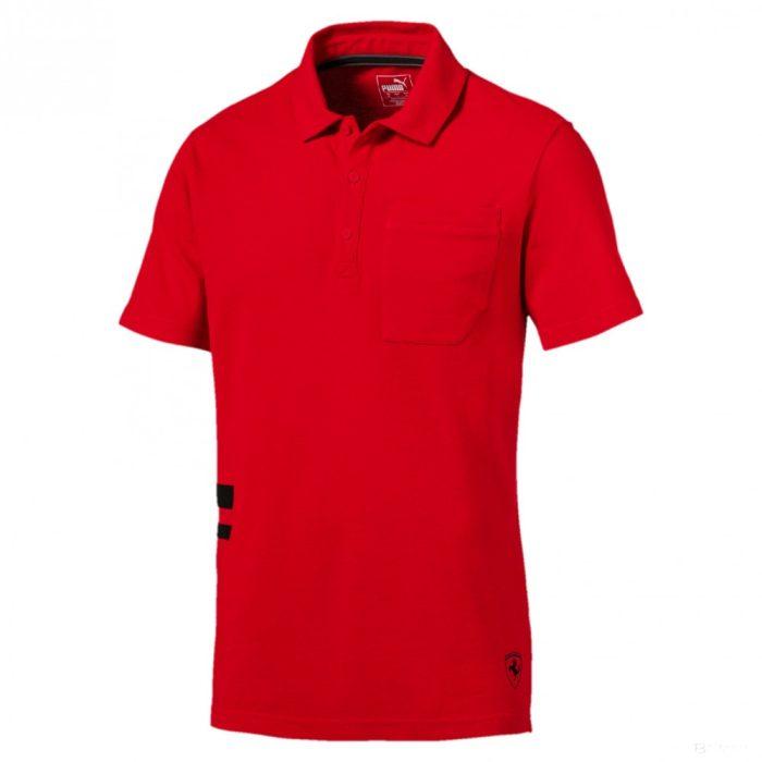2018, Red, XL, Puma Ferrari Fan Lifestyle Polo