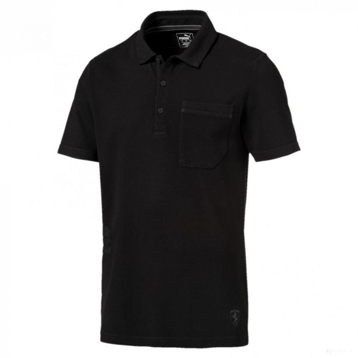2018, Black, XL, Puma Ferrari Fan Lifestyle Polo