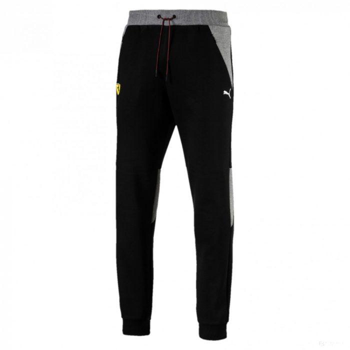 2018, Black, S, Puma Ferrari CC Mens Pants