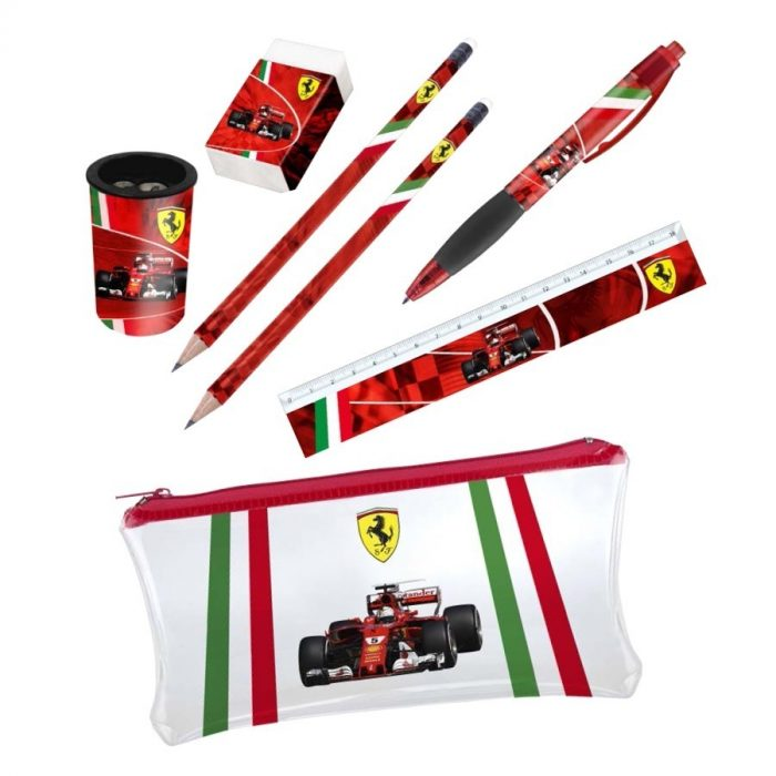 2018, Red, Ferrari Stationery Set
