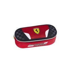 2018, Red, 17x21x6 cm, Ferrari Scudetto Oval Pencil Case