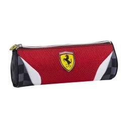 2018, Red, 22x8 cm, Ferrari Round Pencil Case