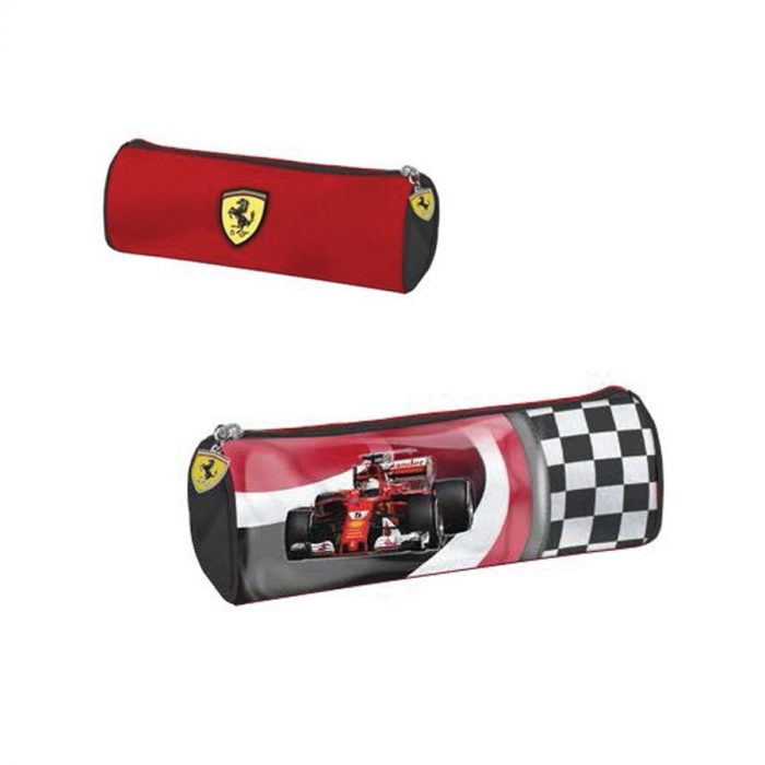 2018, Red, 22x8 cm, Ferrari Race Car Pencil Case