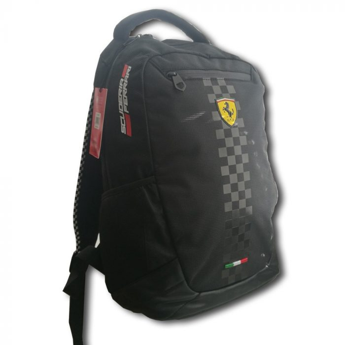 2018, Black, 30x41x17 cm, Ferrari Racing Backpack