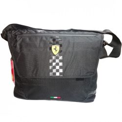 2018, Black, 37x30x13 cm, Ferrari Messenger Shoulder Bag