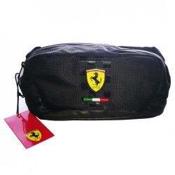 2018, Black, 24x12x11 cm, Ferrari Case Necessaire