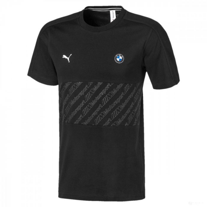 2020, Black, Puma BMW MMS T7 Round Neck T-Shirt