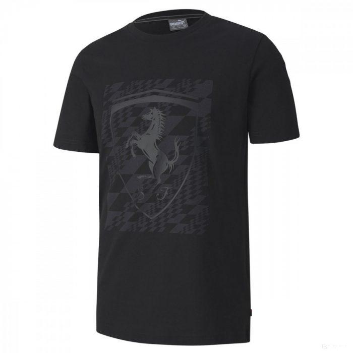 2020, Black, Puma Ferrari Big Shield+ T-Shirt