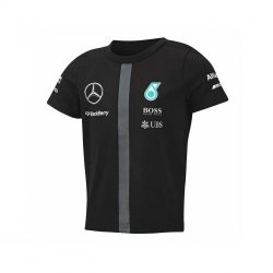 2015, Black, 5-6 years, Mercedes Round Neck Kids Team T-shirt
