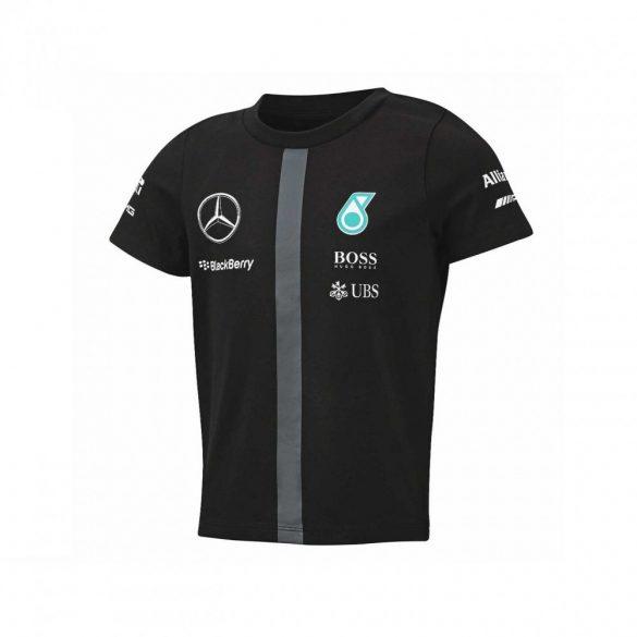 2015, Black, 5-6 years, Mercedes Round Neck Kids Team T-shirt