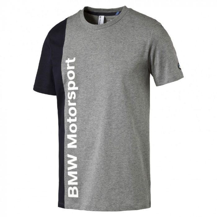 2016, Grey, XS, BMW Round Neck Team T-shirt