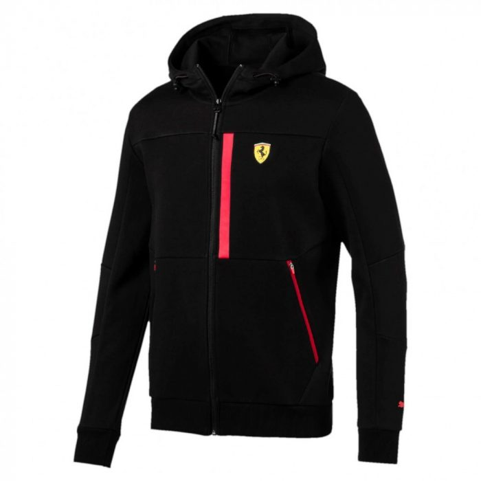 2017, Black, M, Puma Ferrari Scudetto Black Sweater