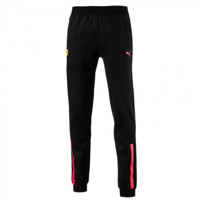 2017, Black, XL, Puma Ferrari RedLine Pants