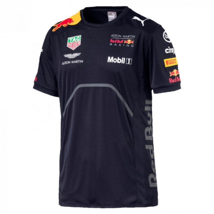 2018, Blue, XS, Red Bull Round Neck Team T-shirt