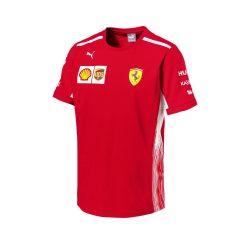 2018, Red, M, Ferrari Round Neck Team T-shirt