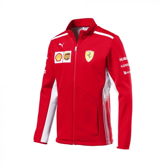 2018, Red, S, Ferrari Softshell Team Jacket