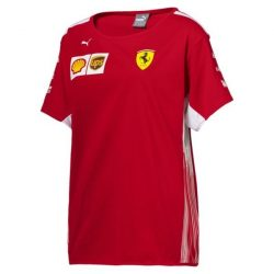 2018, Red, M, Ferrari Round Neck Womens Team T-shirt