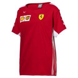2018, Red, XL, Ferrari Round Neck Womens Team T-shirt