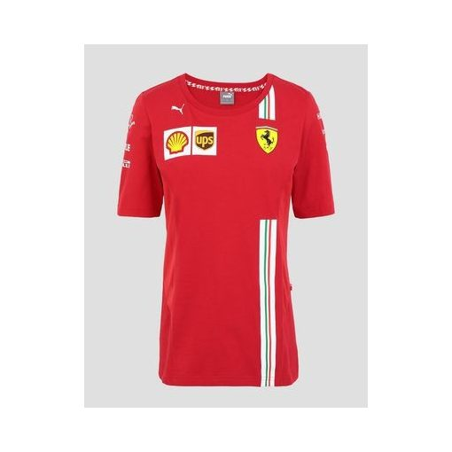 2020, Red, Puma Ferrari Womens Team T-Shirt
