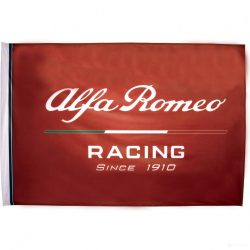 2019, Red, 150x100 cm, Alfa Romeo Team Logo Flag