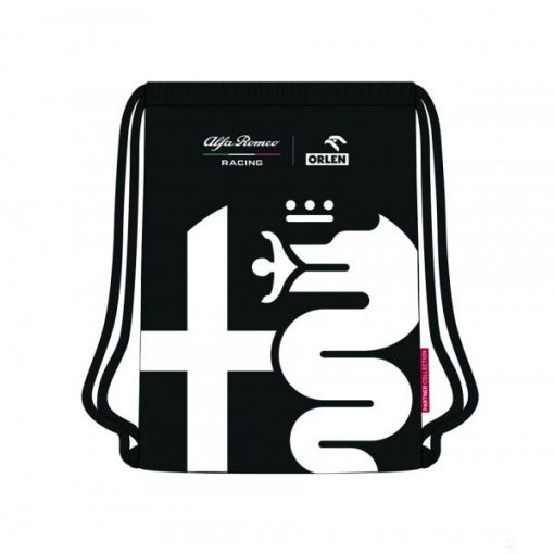 Alfa Romeo Tribute Gym Bag, Black, 2020 - FansBRANDS