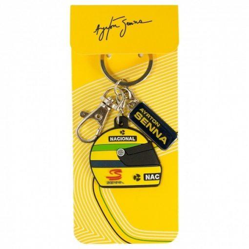 Senna 1990 Helmet Keychain, Yellow, 2015 - FansBRANDS