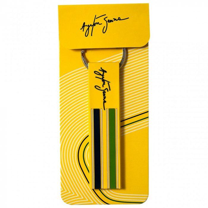 2015, Yellow, Senna Brazil Rubber Keyring