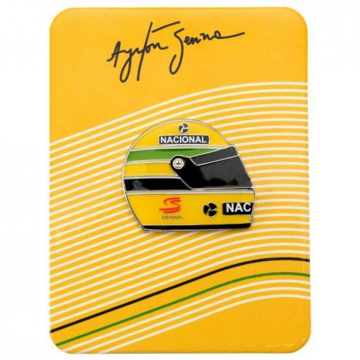 Senna 1990 Helmet brooch, Yellow, 2015 - FansBRANDS