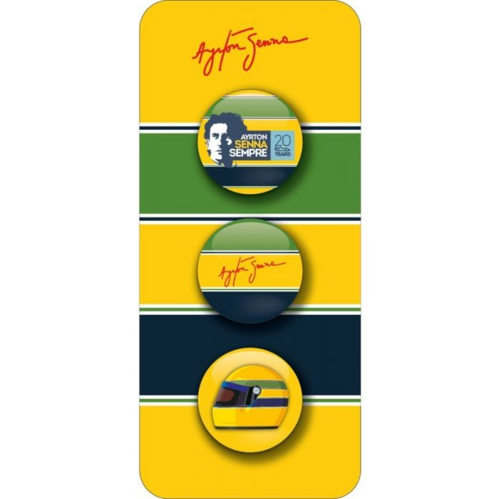 2015, Yellow, Senna fans brooch set