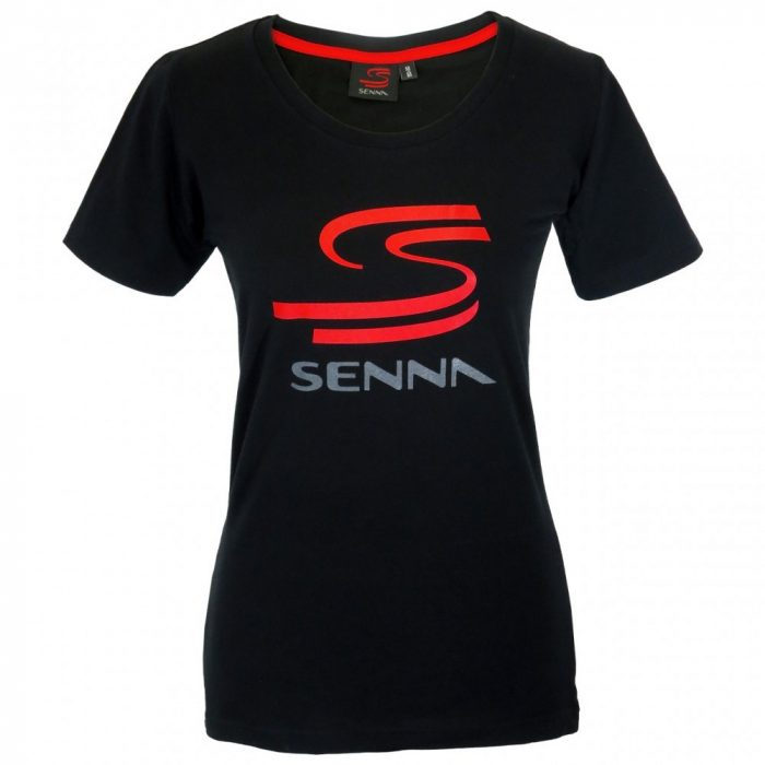 2015, Black, S, Senna Round Neck Womens Double S T-shirt