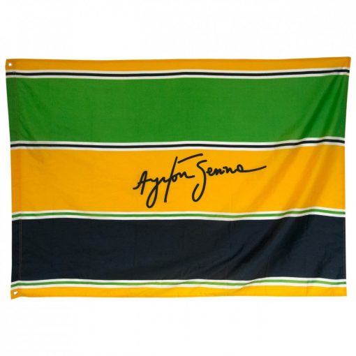 Senna Helmet Flag, Yellow, 2015 - FansBRANDS