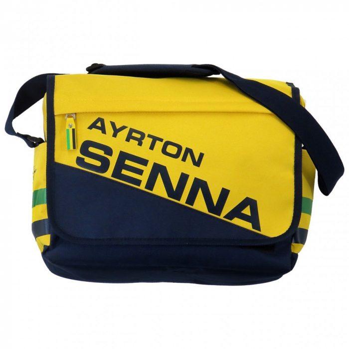 2015, Yellow, 31x35x10 cm, Senna Racing Messenger Bag