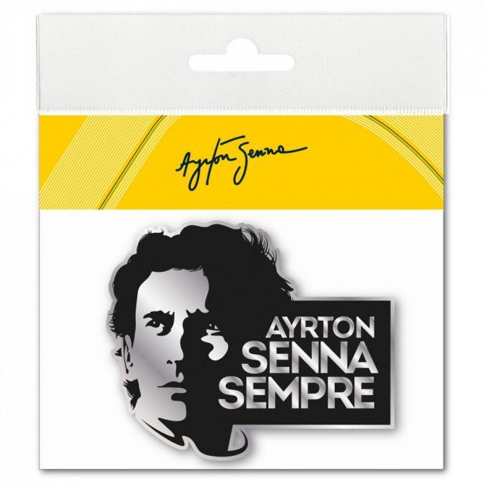 2015, Black, Senna Sempre 3D sticker