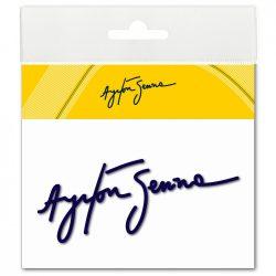 2015, Blue, Senna Signature sticker