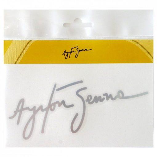 Senna Signature sticker, Silver, 2015 - FansBRANDS