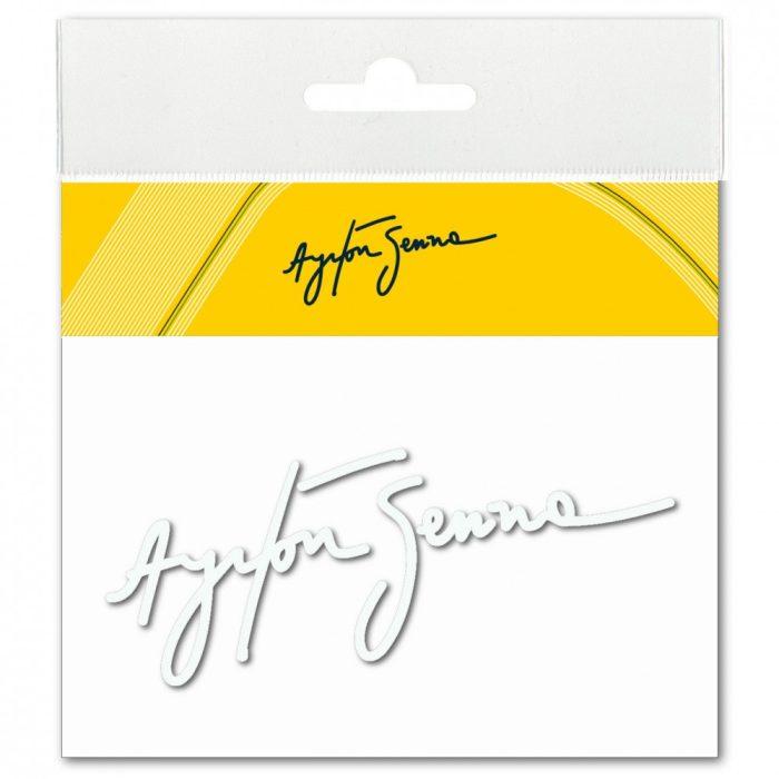 2015, White, Senna Signature 3D sticker