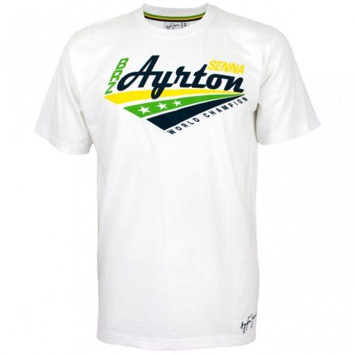 Senna Round Neck World Champion T-shirt, White, 2016 - FansBRANDS